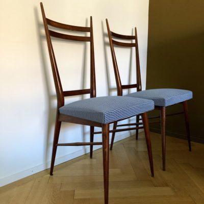 paire chaises dans le style de Roset editions 50'