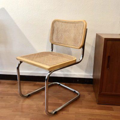 chaise design cesca B32 de breuer, hêtre et cannage, italie ( 2 disponibles)