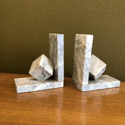 paire serre livres marbre style art deco