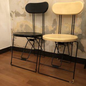 chaise cricket van onck & yamaguchi pour Magis 1983 noir ou crème