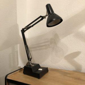 lampe de table noire inbyggd säkring, suède - avec fusible