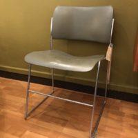 chaise david rowland modèle 40/4 métal empilables 70' - 3 disponibles