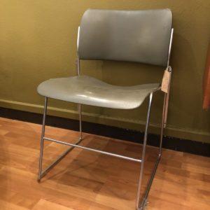 chaise David Rowland, modèle 40/4, métal empilables, 70's - 3 disponibles