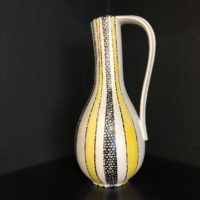 vase midcentury noir jaune