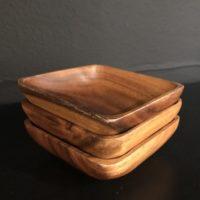 serie 3 bols carrés bois