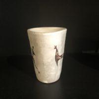 gobelet signé yurtsua signature inversee du ceramiste francais j. austruy 60'
