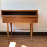 chevet - petit meuble d'appoint 1 tiroir pieds fuseaux
