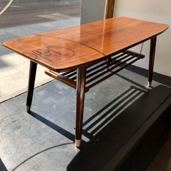 table basse pieds compas laiton 37x91 h38