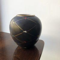 vase boule peint à la main 50' allemagne