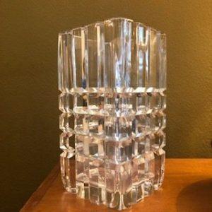 vase cristal orrefors suède signé numéroté 23.5 cm h