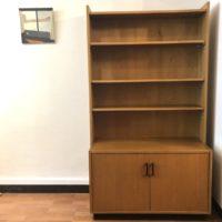 bibiliothèque et caisson rangement 2 portes contreplaqué bois clair 60' dim.93x45 h167