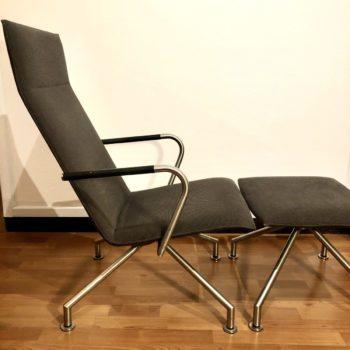 fauteuil et repose-pieds moderne XXIe éditeur Arco NL, design B. Vogtherr 66x50 41x50