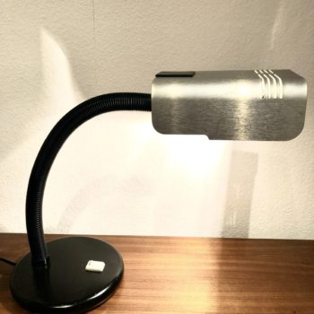 lampe de bureau noire et alu targetti Italie 80'